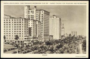 Miami, Florida, Columbus, Colonial Hotel (1940) HAPAG