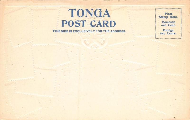 Tonga, Classic Stamps in Actual Colors, Early Embossed Postcard, Unused