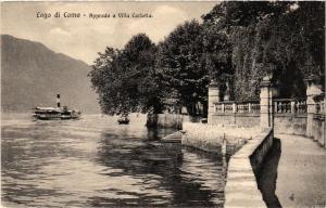 CPA Lago di Como Approdo a Villa Carlotta . ITALY (499797)