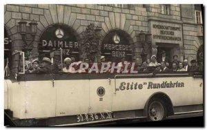 PHOTO CARD Automotive Bus Rundfahrten Elite Berlin 1936 Daimler Mercedes Benz