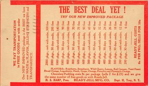Ready Jell MFG Co Troy, NY, USA Advertising Postal Used Unknown tab marks on ...