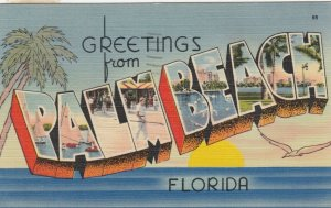 Large Letter Greetings, PALM BEACH, Florida , 1945