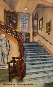 Louisiana New Orleans Stairway In The Cabildo 1946