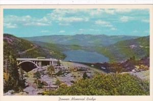 California Donner Memorial Bridge and Donner Lake
