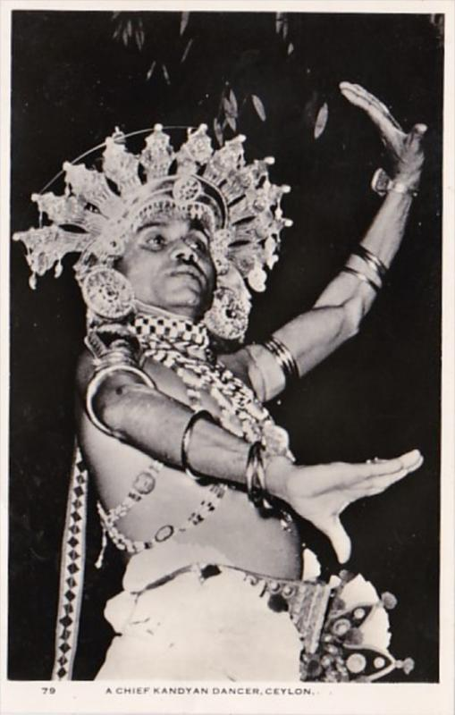 Sri Lanka Ceylon Kandy A Chief Kandyan Dancer Real Photo