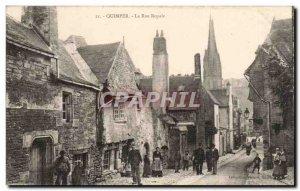 Quimper Old Postcard Royal Street