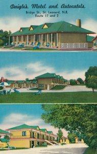 ST. LEONARD , New Brunswick, 50-60s ; Daigle's Motel & Autocatels