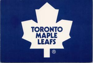 Toronto Maple Leafs Team Logo Hockey NHL Unused Postcard D56