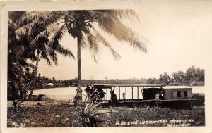 E23/ Honduras Central America C.A. RPPC Postcard Real Photo Boat River c1920