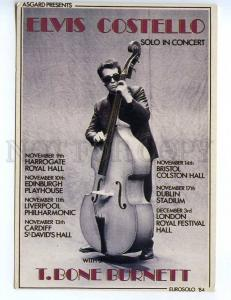 239273 UK Elvis Costello cello cellist concert ADVERTISING old