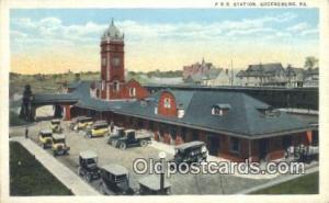 PRR Station, Greensburg, PA, Pennsylvania, USA Depot Postcard, Railroad Post ...