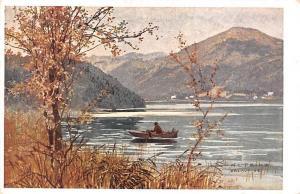 Am Erlaufsee K. Ludwig Prinz Pinx Lake Boat Bateau