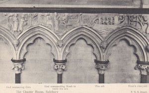 SALISBURY, England, 1900-1910s; The Chapter House, Cathedral Carvings