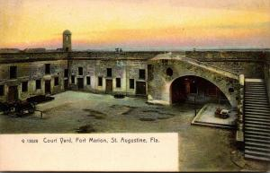 Florida St Augustine Fort Marion Court Yard Rotograph