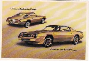1981 Chevrolet Camaro Berlinetta Coupe & Camaro Z-28 Sport Coupe