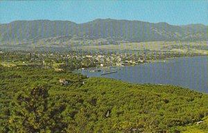 Aerial View Penticton On Okanagan Lake British Columbia Canada