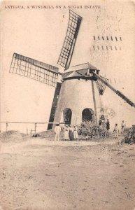 Antigua Windmill on a Sugar Estate Vintage Postcard AA39892