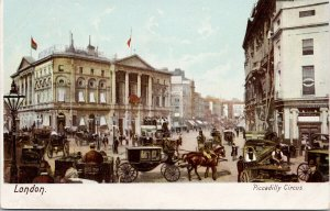 Piccadilly Circus London UK Postcard F72