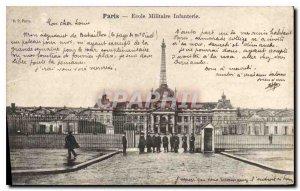 Old Postcard Paris Ecole Militaire Army Infantry Eiffel Tower