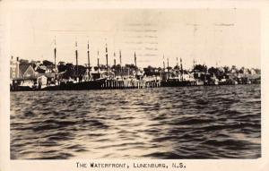 Lunenbrug Nova Scotia Canada The Waterfront Real Photo Antique Postcard J72783