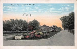 Beaser Avenue, Ashland, Wisconsin, Early Postcard, Unused