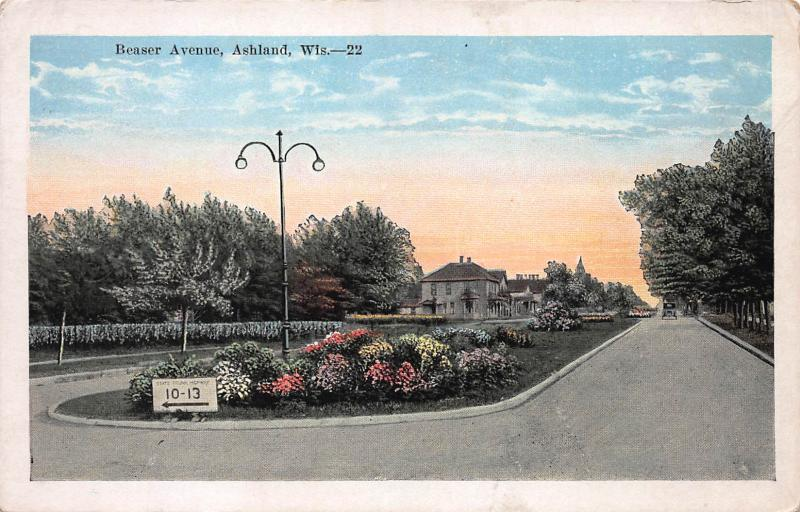 Beaser Avenue, Ashland, Wisconsin, Early Postcard, Unused