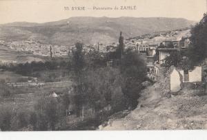 B80616 panorama de zahle syrie   liban lebanon front/back image