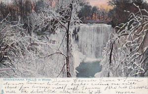 Minnehaha Falls In Winter Saint Paul Minnesota 1906