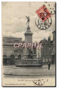 Troyes Postcard Ancient Monument Benefactors