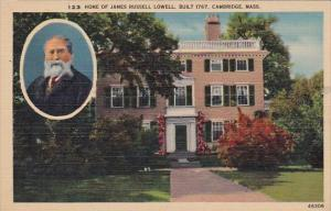 123 Home Of James Russell Lowell Built 1767 Cambridge Massachusetts