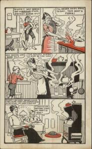 Union Center WI PE Corsaw National Light Oil Burning Stoves Comic Strip PC