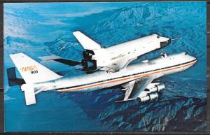 NASA space shuttle on top of 747, unused
