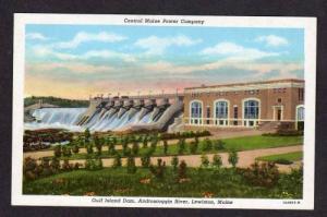 ME Central Maine Power Plant LEWISTON MAINE Postcard PC