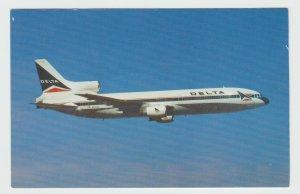 Vintage Postcard Delta Airlines Lockheed L-1011 Tristar Airliner Aircraft Jet