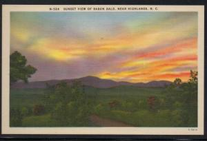 North Carolina colour PC Sunset Rabun Bald near Highlands unused