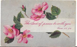 US Rare Greeting Card, used, no postage.  The God of Peace be with you.