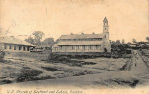 Nigeria Calabar Church of Scotland and School 1906 Postcard