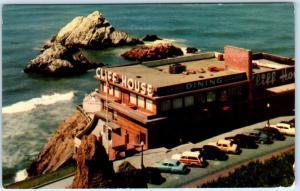 SAN FRANCISCO, California CA  CLIFF HOUSE  c1950s Woody Woodie  Postcard