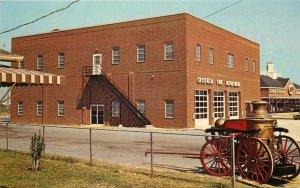 Antique Steam Pumper Crisfield Maryland Fire Department Postcard Tingle 8764