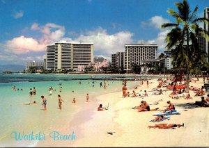 Hawaii Waikiki Beach With Sheraton-Waikiki Royal Hawaiian and Outrigger Hotels
