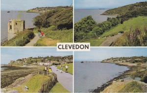 Post Card Somerset Clevedon 4 views