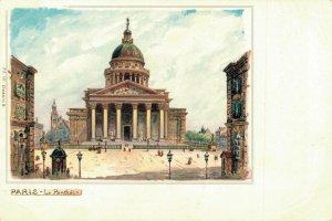France - Paris Le Pantheon Litho 04.05