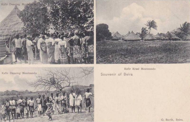 3- Views, Two Views Of Kafir Dancing, & Kafir Kraal Moutoundo, Souvenir Of Be...