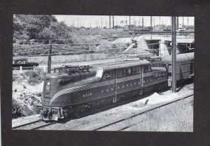 NJ Pennyslvania Railroad Train Locomotive 4935 South Amboy New Jersey Postcard