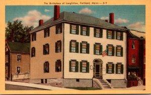 Maine Portland Birthplace Of Longfellow Dexter Press