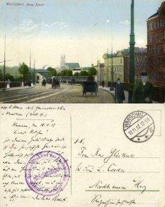 poland, WARSAW WARSZAWA, Nowy Zjazd (1917) Postcard