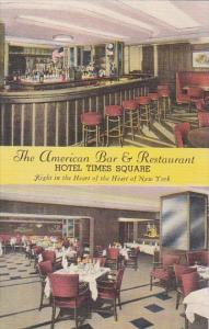 The American Bar & Restaurant Interior Multi View Hotel Times Square New York...