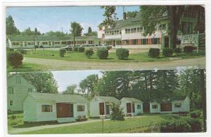 Tracy's Motel & Restaurant Cherryfield Maine postcard
