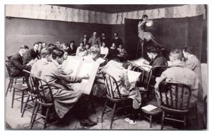 Early 1900s Art Institute of Chicago Three-Hour Sketch Class with Model Postcard