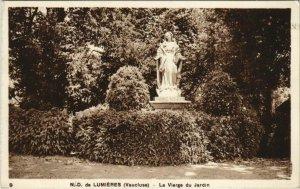 CPA Notre-Dame de Lumieres - La Vierge du Jardin (1086325)